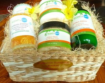 California Sunshine Gift basket Organic Ingredients Vegan