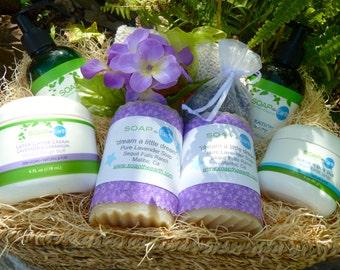 Lavender Gift Basket Deluxe With Organic Ingredients Vegan