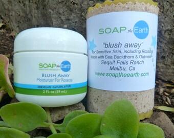 Moisturizer and Soap Set for rosacea & sensitive skin Organic ingredients, Vegan