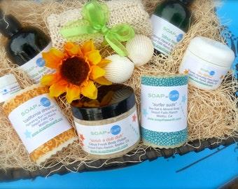 The Malibu Collection Deluxe Gift Basket Organic Ingredients Vegan