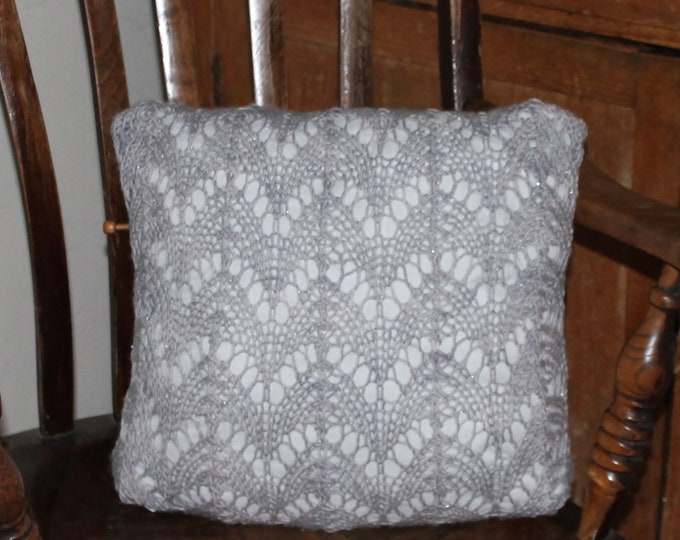 Big Lace Knitting Arch Cushion PDF pattern download