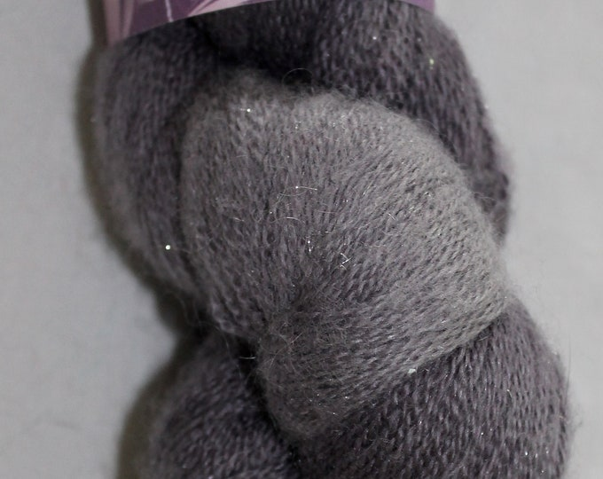 Hand painted extra fine merino, silk and sparkle sock/lace weight yarn in starry night colour way