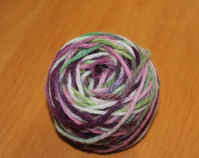 Hand painted chunky/aran weight merino and alpaca yarn