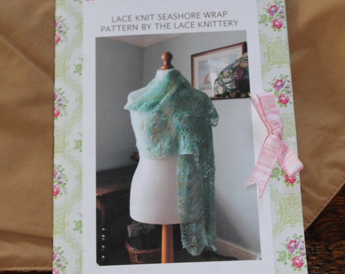Mermaid Wrap knitting pattern in keepsake flower folder
