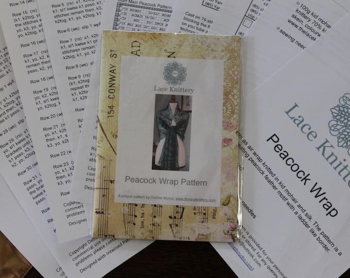 Peacock Wrap Pattern in Keepsake Folder