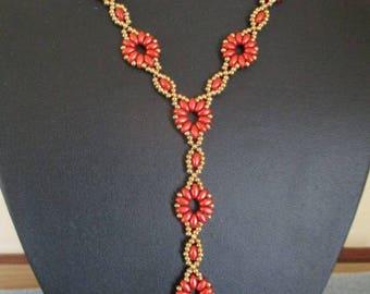 Drop Flower Necklace