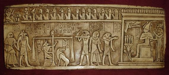 Ancient Egyptian Anubis Judgement Day Pharaoh Art Wall Decor | Etsy