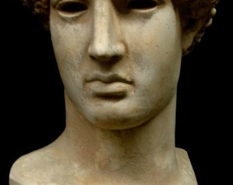 Greek Head of the Lemnia Athena Sculpture Bust