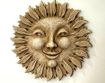 Smiling Sun Flower Wall Plaque Home Garden Decor Art 12006
