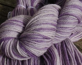 Lavender  - Hand Dyed British Wool- Aran weight yarn
