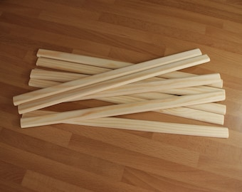 Wooden Warping sticks  for weaving looms - choice of length 20 cm - 30 cm