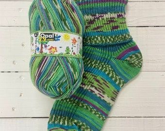 Painted Congratulations 11043 - 25 years of Opal - SUPERWASH - 4 ply Sock Yarn - by Opal