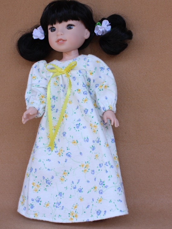 White Top Yellow Floral Pants Fits American Girl Wellie Wisher Dolls