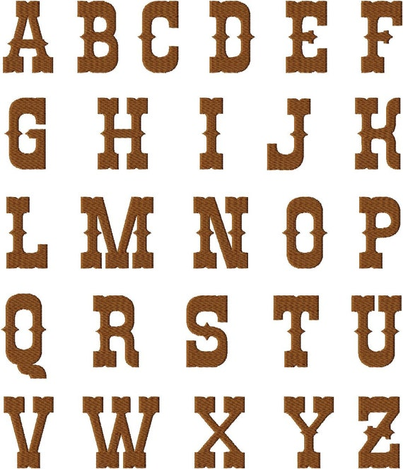 Instant Download Rio Western Style Font Machine Embroidery