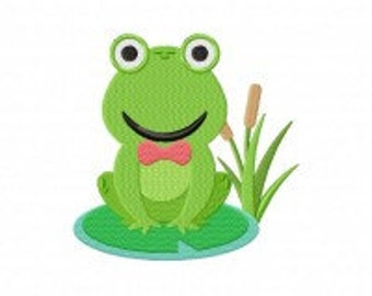 Frog Conductor Machine Embroidery Design