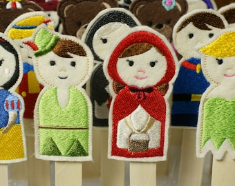 32 Fantasy and Fairytale Easy In The Hoop Machine Embroidery Finger Puppets for One Crazy Low Price. Super Fun For All Ages!