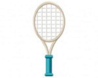 Tennis Racket Machine Embroidery Design
