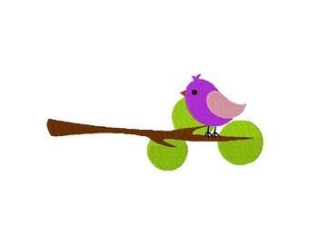 INSTANT DOWNLOAD Branch Bird Machine Embroidery Design