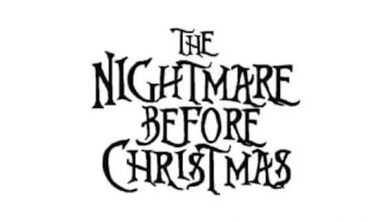 Nightmare Before Christmas Fonts.Instant Download The Nightmare Before Christmas Inspired Machine Embroidery Font Set Includes 4 Sizes
