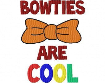INSTANT DOWNLOAD Bowties Are Cool Machine Embroidery Design