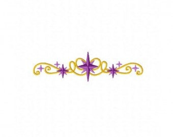 Twinkle Stars Border Machine Embroidery Design