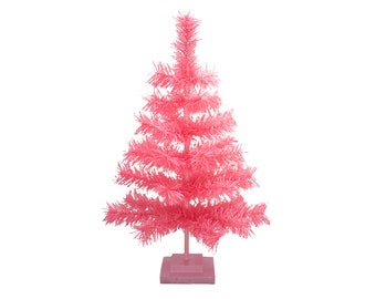 36 pink christmas tree classic style feather tinsel tree 3ft barbie pink christmas tree merchandising display ornament holiday decor