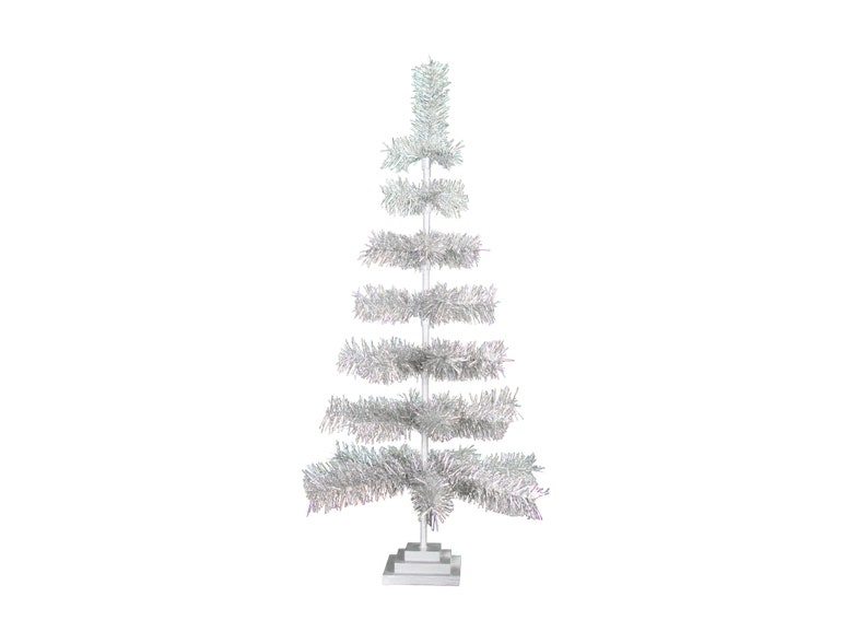 3ft White Christmas Tree.36 Silver Feather Tinsel Christmas Tree Table Top Centerpiece Tree 36 Retro Silver Tinsel Christmas Tree 3ft Vintage Feather Style Xmass