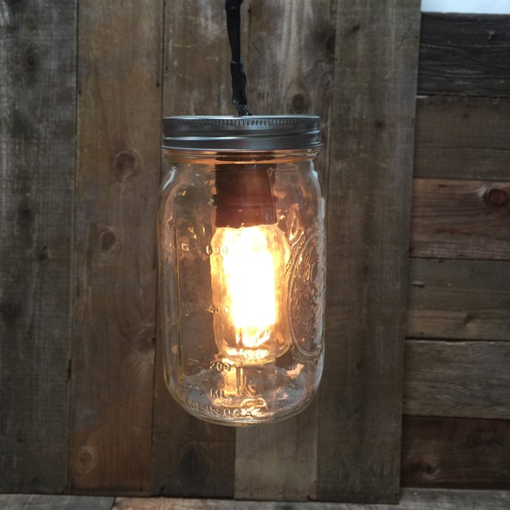 Superbe Mason Jar Patio Lamp Fixture And Large Bulb Included, Hanging Vintage  Lights Outdoor Indoor Pendant Single String Lighting Ceiling Lights