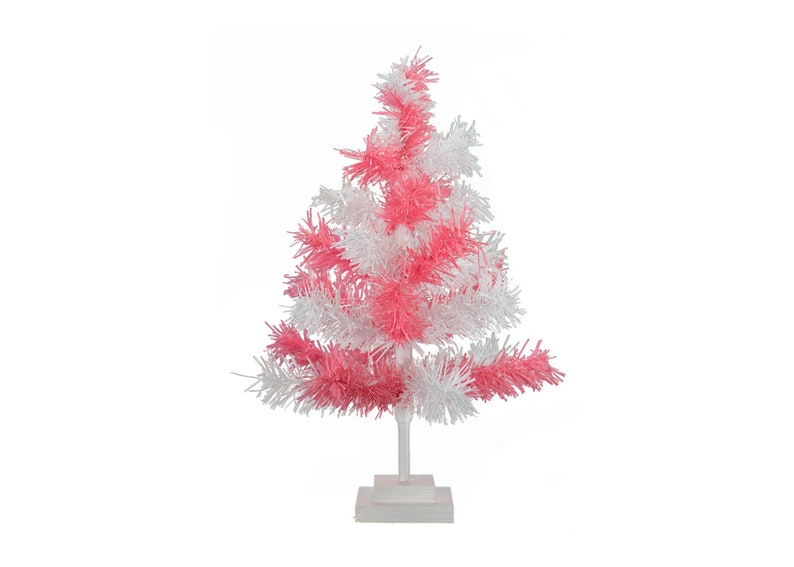 4b2b61d3c 18  48Pink   White Tinsel Tree Christmas Easter
