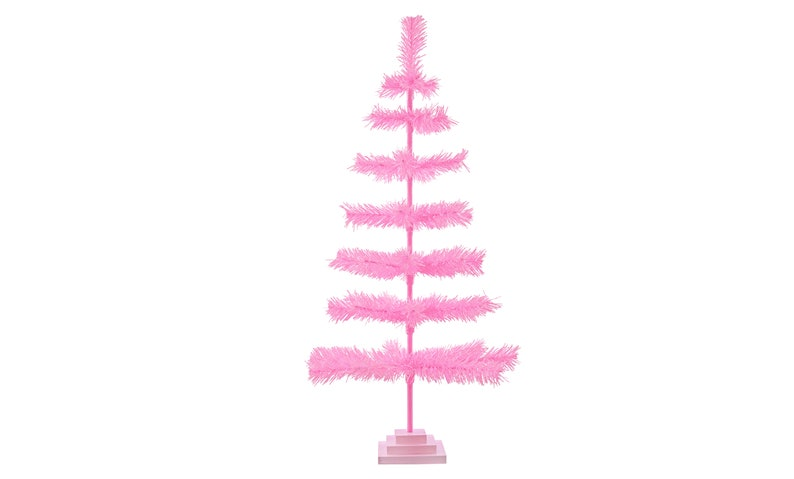Pink Christmas Trees.48 Pink Christmas Tree Classic Style Feather Tinsel Tree 4ft Barbie Pink Christmas Tree Merchandising Display Ornament Holiday Decor