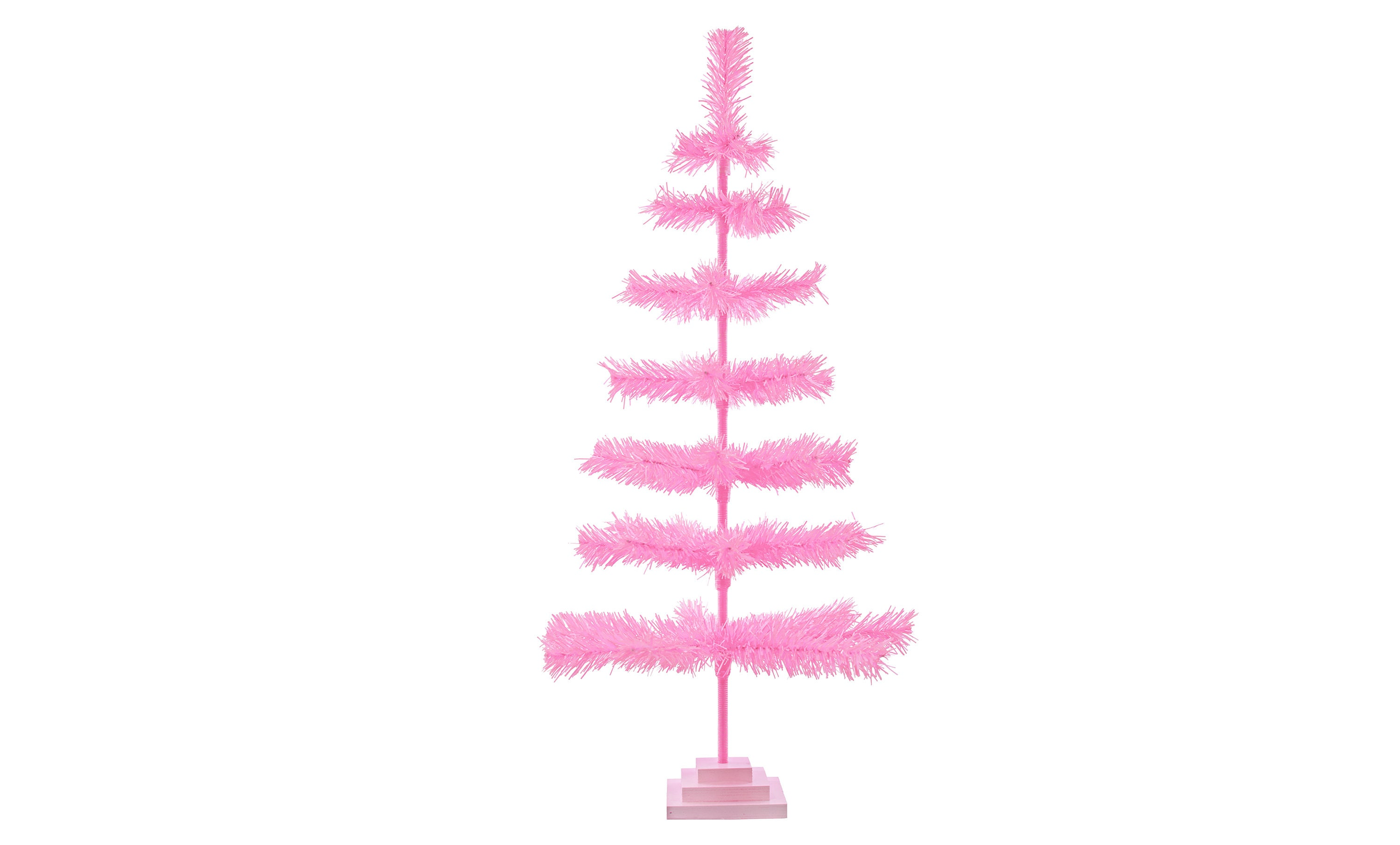 """48/"""" Retro Silver Tinsel Christmas Tree Vintage Feather Style XMASS Holiday 4FT"""