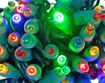 Multi-Color LED Christmas Lights Twinkle Sets UL Listed 50 Bulb 25FT Strings