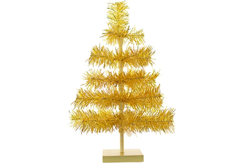 24/'/' Shiny Purple Christmas Feather Tinsel Tree Tabletop Holiday Tree 2FT Tall