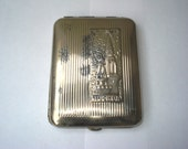 SALE Vintage metal cigarette case, holder from USSR, Moscow