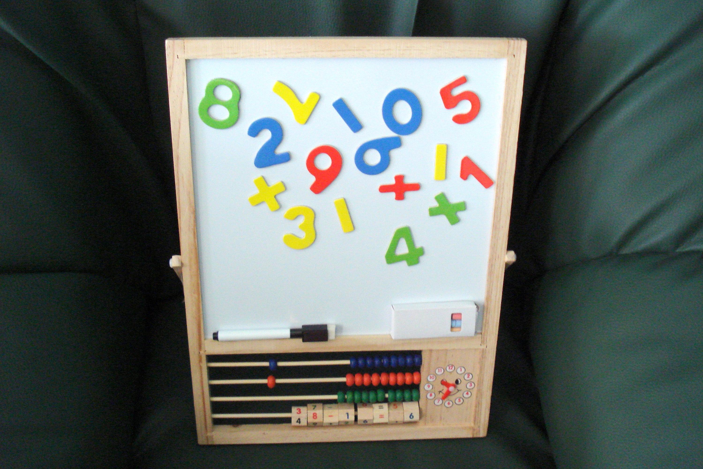 Vintage schwarze Uhr Board/magnetische Zahlen Board / Kinder