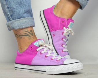 a9629635366a Vintage 90s Converse Pink   Purple Ox Shoes Low Tops Trainers Sneakers  Shoes Chuck Taylor All Star Womens Size UK 6 EU 39 US 8 cm 24.5