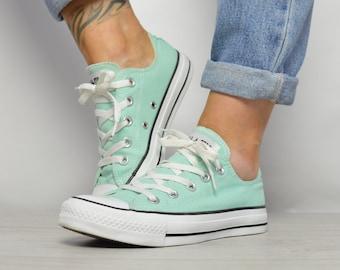 Green converse shoes, unisex, EUR 36.5 (men's 4, women's 6, 23 cm)