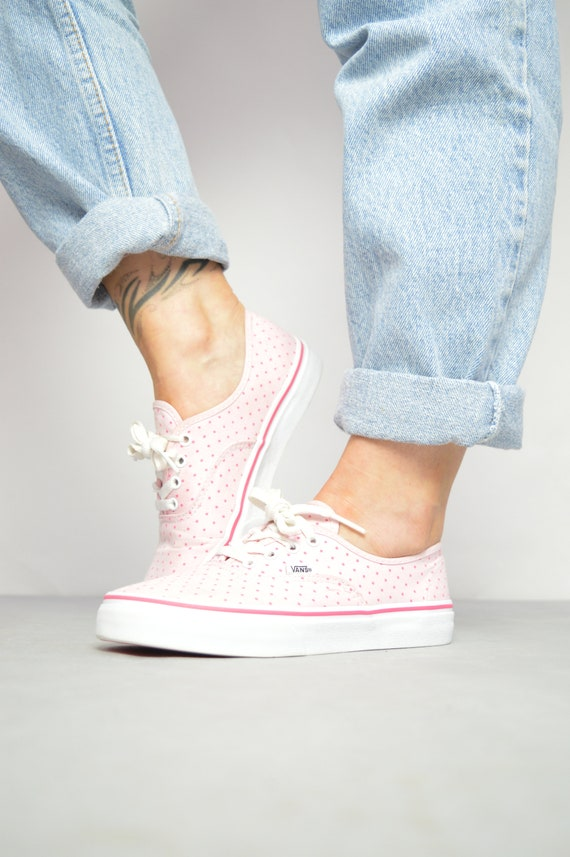 Vintage 90s Vans Pink Polka Dot Skate