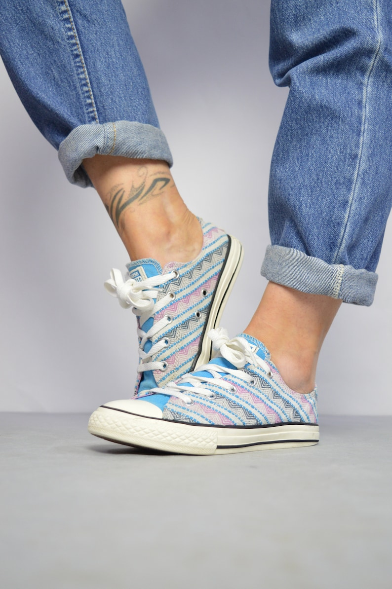 Vintage Cm Uk 5 Us 6 Blue Woven Ox Womens Pinkamp; Shoes Size 23 Chuck Low Taylor 36 Tops Aztec Sneakers 90s 4 White Eu Trainers Converse b7vIgfmY6y
