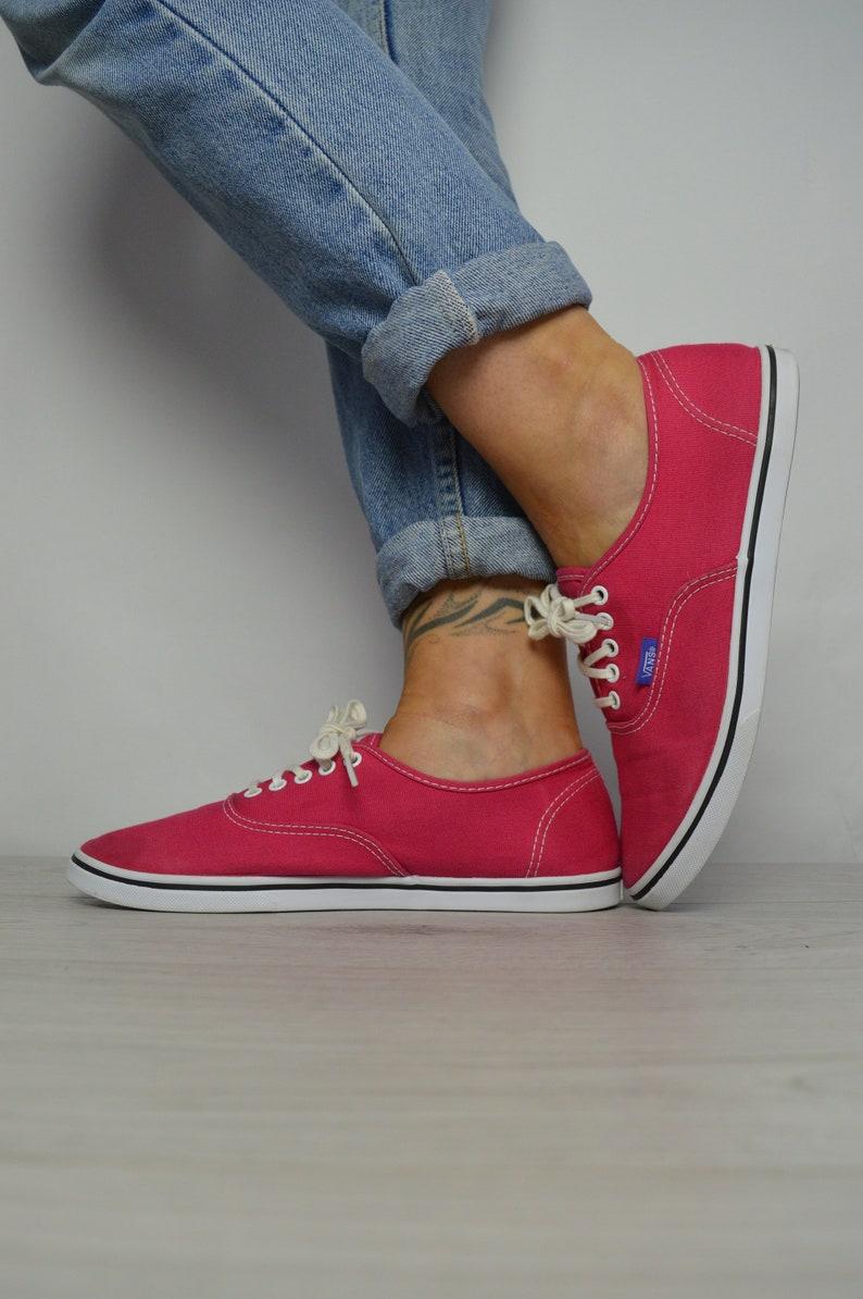 33029ae515 Vintage 90s Vans Pink Skate Shoes Trainers Sneakers Retro