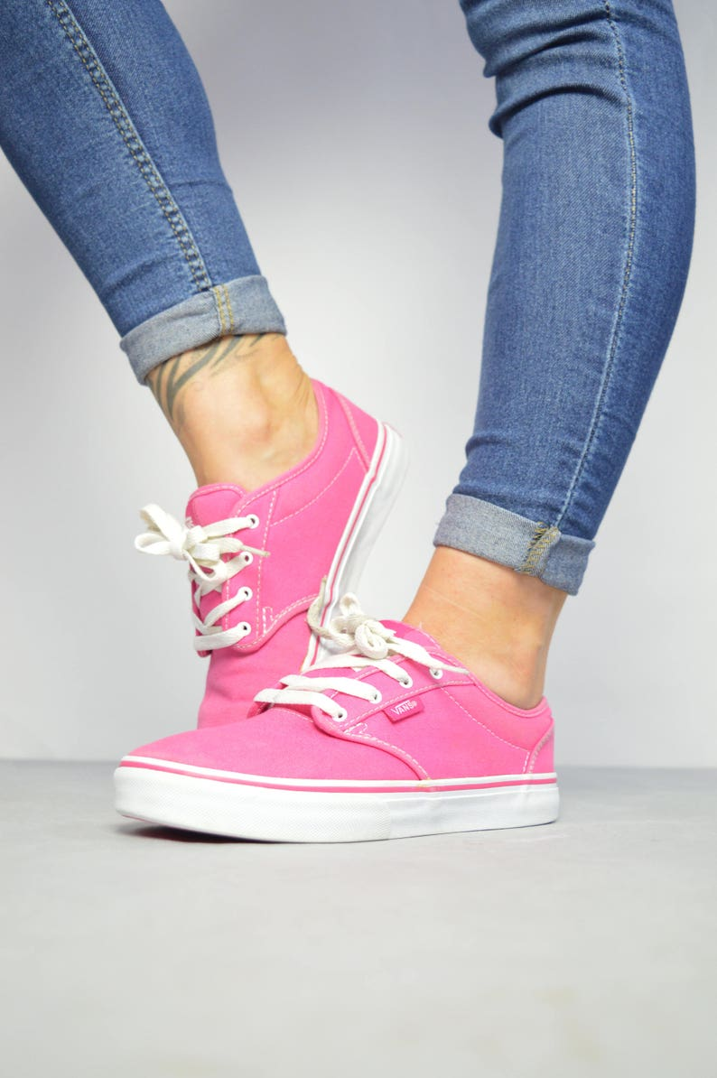 2f0f958e4c Vintage 90s Vans Pink Skate Shoes Trainers Sneakers Retro
