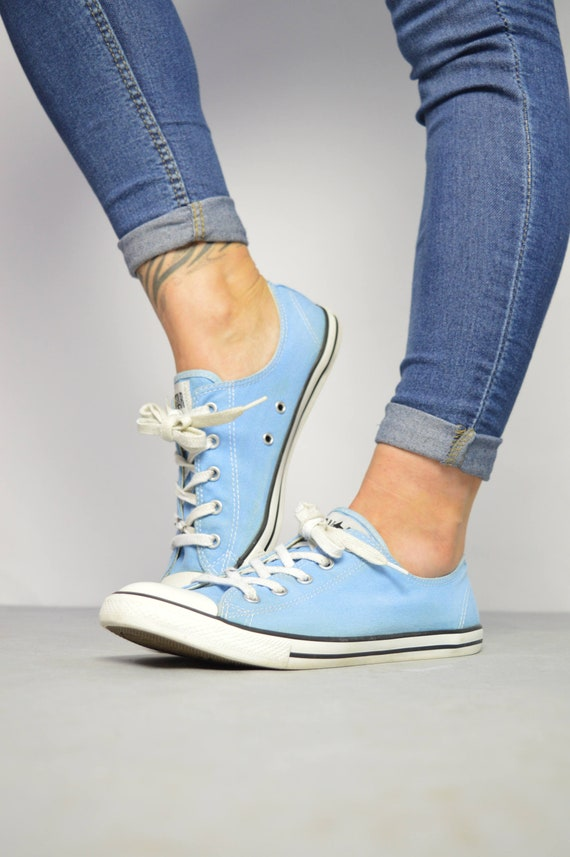 f28019eb24ce Vintage 90s Converse Blue Dainty Ox Shoes Low Tops Trainers