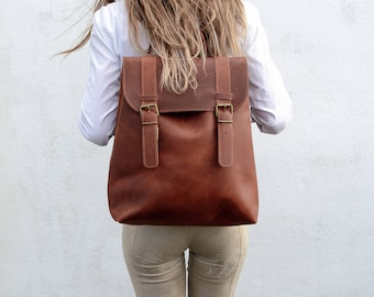 0a60a2f4a7 Leather rucksack