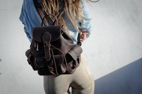 7d118391006c Brown leather backpack Dream bigwomen backpack