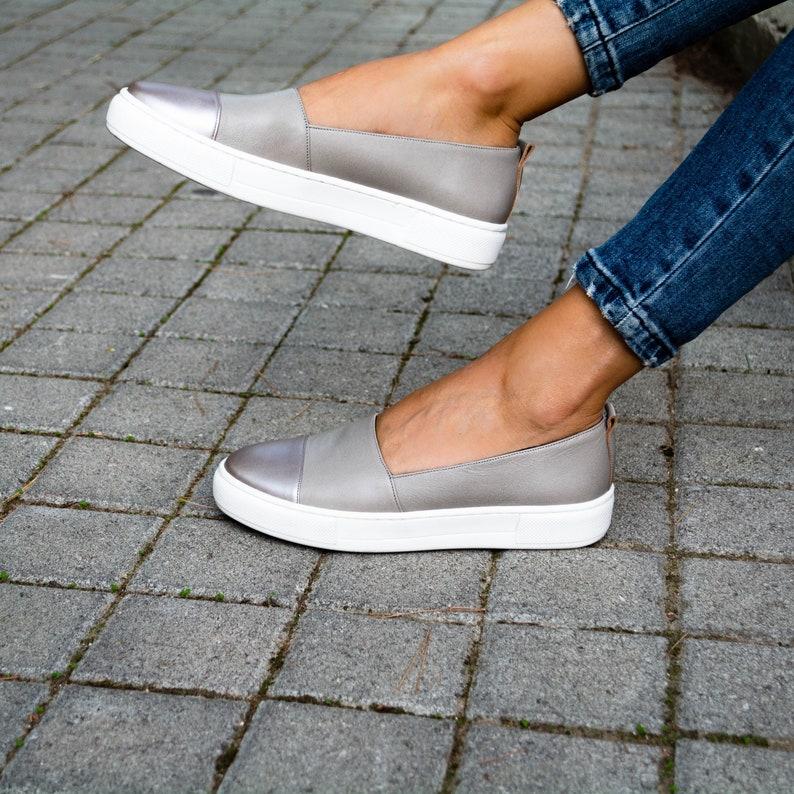 06d63c9cde910d Designer Loafer ShoesLoafer Shoes Women silver leather
