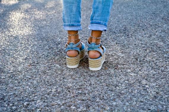 genuine greek leather sandals flatform sandals Sandals espadrille sandals Denim sandals Espadrille wedge denim Flatform twaIqaTY
