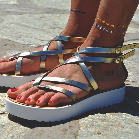Greek sandals Sandal Generation Leather Gladiator Sandals Sandals sandals strappy Next Women gold wx0xtB