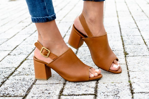 mules shoes leather open heeled shoes toe