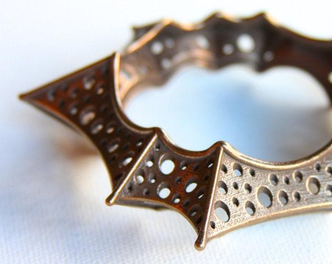 """Trypostar"" Bangle in Bronze-Infused Steel"