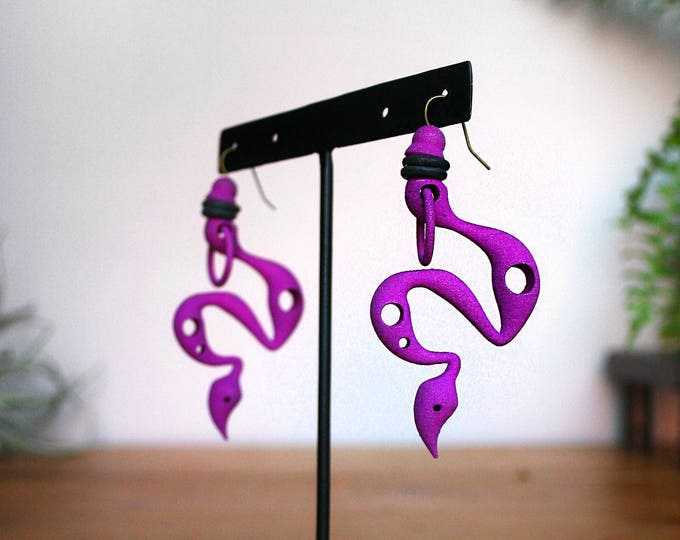 """Venom"" Earrings in Purple"